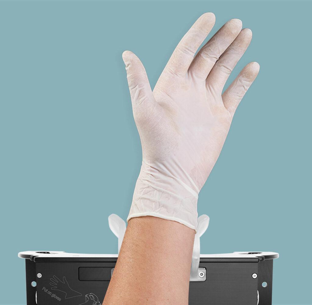 Gos Glove Onput System Gummihandschuhe einfach anziehen
